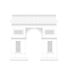 Arc de Triomphe - triumphal arc in Paris France 1 vector