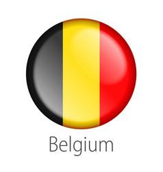 Belgium round button flag vector