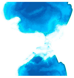 Blue watercolor background vertical composition vector