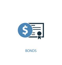 Bonds concept 2 colored icon simple blue element vector