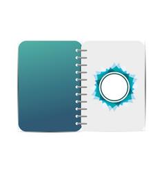 Branding notebook design vector
