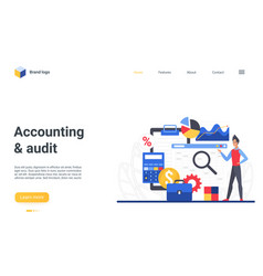 Business accounting financial audit landing page vector