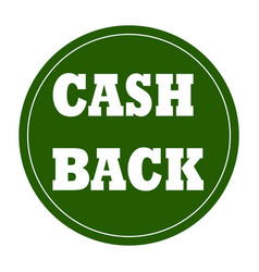 cash back background vector image