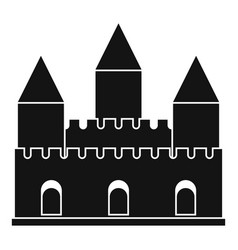 Castle tower icon simple style vector