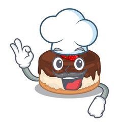 chef cake berries in character that fresh vector image