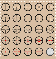 Collection crosshairs vector