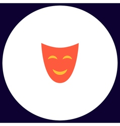 Comedy mask computer symbol vector
