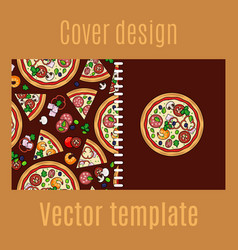 Cover design with cartoon pizza vector