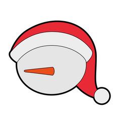 Cute snowman icon vector