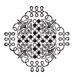 doodad have small circle and leaves pattern in vector image