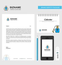 employee business letterhead calendar 2019 and vector image