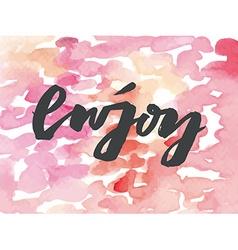 Enjoy card Abstract vector image