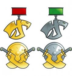Fantasy medals vector