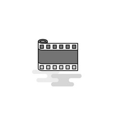 film roll web icon flat line filled gray icon vector image