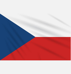 Flag czech swaying in wind realistic vector