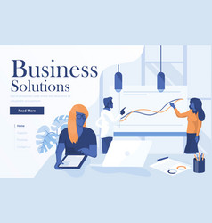flat modern design business solutions vector image