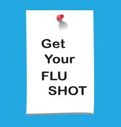 flu shot memo2 preview vector image