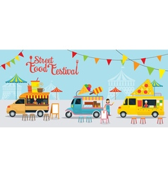 Food Truck Street Food Festival vector image
