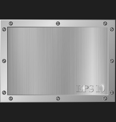 frame of metal vector image
