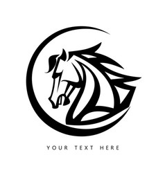 Horse animal silhouette black icon logo vector