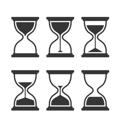 hourglass modern icons set isolated on vector image