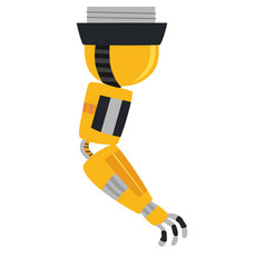 industrial mechanical robot arm icon vector image
