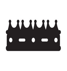 isolated royal crown silhouette vector image
