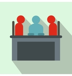 Job interview icon flat style vector image