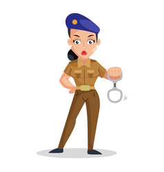 Lady police vector