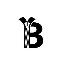 Letter b modern vector
