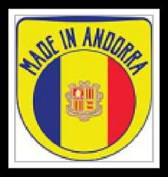 Made in Andorra sign vector image