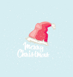 Merry christmas post card winter greeting card vector