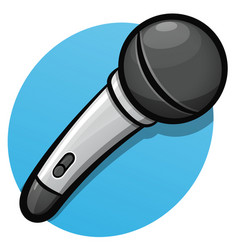 microphone color cartoon design vector image