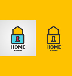 modern minimalistic logo design for home vector image