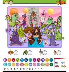 Numbering game cartoon vector