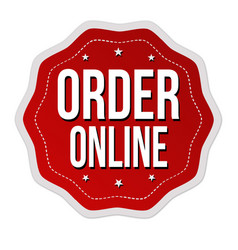 Order online label or sticker vector