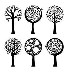 Ornate trees vector image