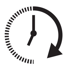 Passage of time icon with shadow on black vector