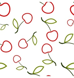 Pattern Circuit Cherry vector image