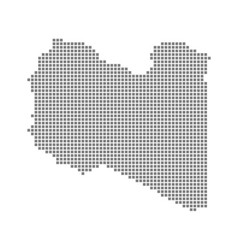 pixel map of libya dotted map of libya isolated vector image