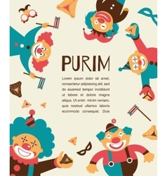 purim template design Jewih holiday vector image vector image