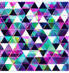 Purple triangles seamless pattern vector