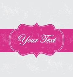 Retro ribbon banner vector image