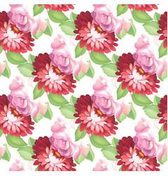 Seamless rose pattern vector