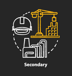 Secondary chalk concept icon processing and vector