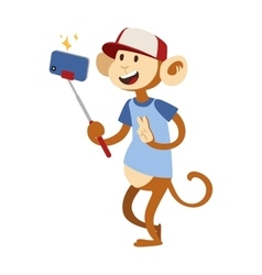 Selfie monkey vector