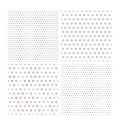 set of four seamless patterns with small vector image