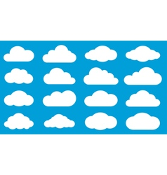Set of white clouds vector