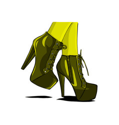 Sexy woman boots with legs vector
