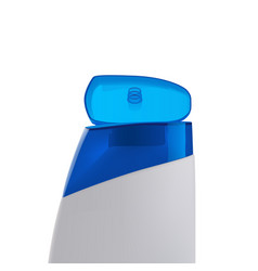 Shampoo bottle side view vector